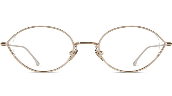 Komono - Zoe White Gold Eyeglasses / Demo Lenses