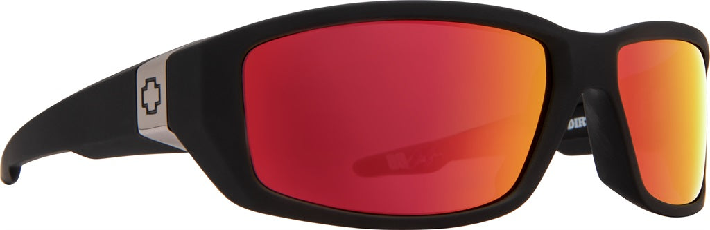 Spy - Dirty Mo Soft Matte Black Sunglasses / Happy Rose with Red Spectra Lenses