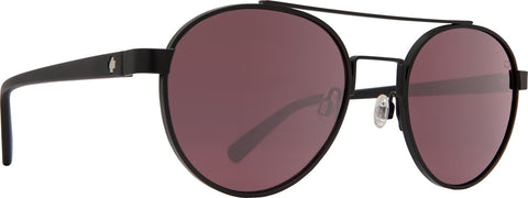 Spy - Deco Matte Black Sunglasses / Happy Rose with Light Silver Spectra Mirror Lenses