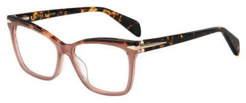 Rag & Bone - Rnb 3021 51mm Opal Burgundy Eyeglasses / Demo Lenses