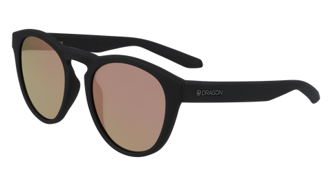 Dragon - Opus LL H2O Non-Polar 51mm Matte Black Sunglasses / Lumalens Rose Gold Lenses