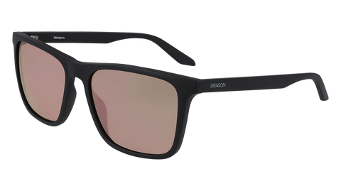 Dragon - Renew LL 58mm Matte Black Sunglasses / Lumalens Rose Gold Ion Lenses