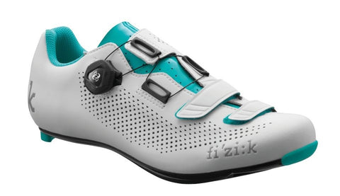 Fizik - Women's R4B BOA Carbon White Emerald Green Cycling Shoes