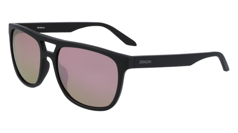 Dragon - Cove LL 56mm Matte Black Sunglasses / Lumalens Rose Gold Ion Lenses