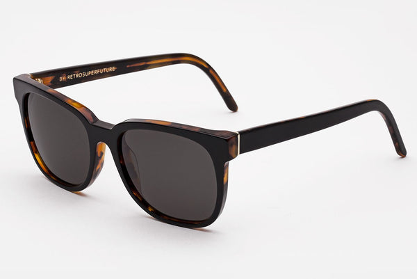 Super - People Havana Black Top Sunglasses