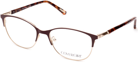 Cover Girl - CG0540 Matte Dark Brown Eyeglasses / Demo Lenses