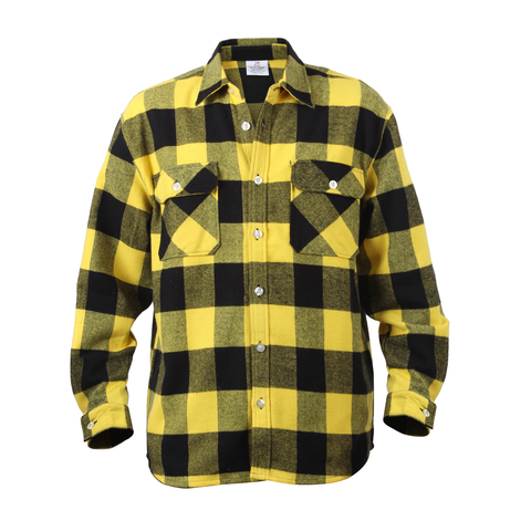 Rothco - Extra Heavyweight Buffalo Plaid Yellow Flannel Shirt