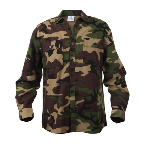 Rothco - Extra Heavyweight Camo Flannel Shirt