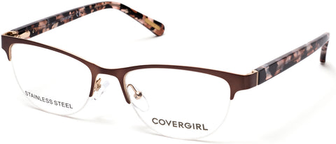 Cover Girl - CG0544 Matte Light Brown Eyeglasses / Demo Lenses