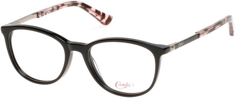 Candie's - CA0503 50mm Shiny Black Eyeglasses / Demo Lenses