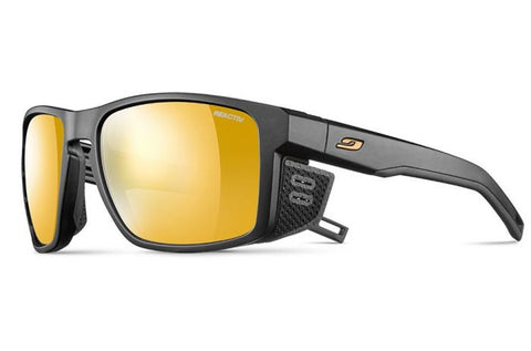 Julbo - Shield Black Sunglasses / Reactiv Photochromic Zebra Light Lenses