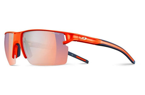 Julbo - Outline Fluo Orange Sunglasses / Reactiv Photochromic Zebra Light Red Lenses