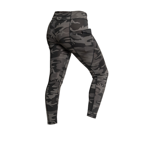 Rothco - Women's Performance Workout With Pockets Black Camo Leggings