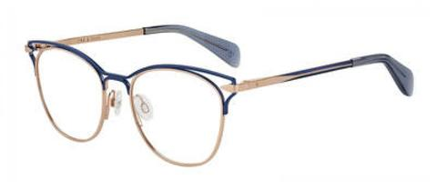 Rag & Bone - Rnb 3019 Blue Gold Eyeglasses / Demo Lenses