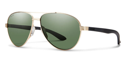 Smith - Salute Matte Gold Sunglasses / Carbonic Polarized Gray Green Lenses