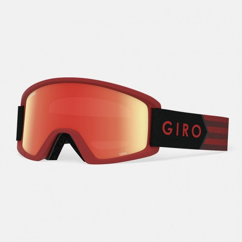 Giro - Semi Dark Red Sierra Snow Goggles / Loden Yellow + Yellow Lenses