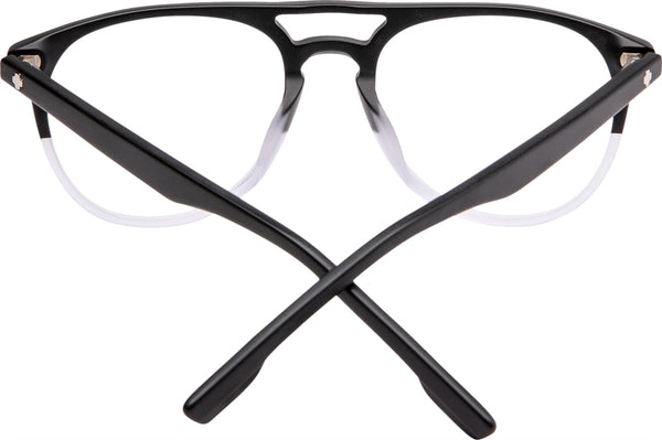 Spy - Rico Matte Black + Clear Fade Eyeglasses / Demo Lenses
