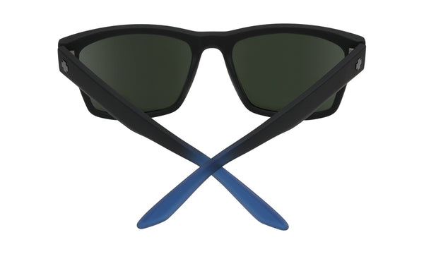 Spy - Haight 2 Soft Matte Black + Blue Fade Sunglasses / Happy Gray Green + Dark Blue Flash Lenses