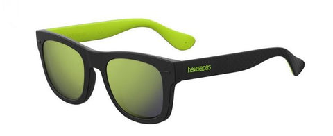 Havaianas - Paraty M Black Green Sunglasses / Yellow Mirror Lenses