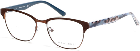 Rampage - RA0206 Matte Dark Brown Eyeglasses / Demo Lenses