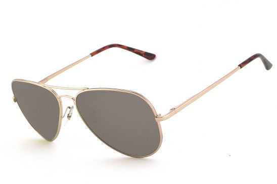 Peppers - Maverick Shiny Light Gold Sunglasses, G-15 Lenses