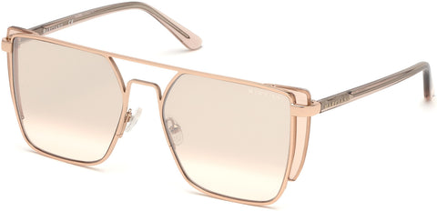 Marciano - GM0789 Shiny Rose Gold Sunglasses / Gradient Lenses