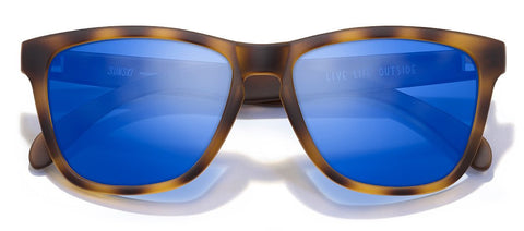 Sunski Madronas Tortoise Sunglasses / Blue Polarized Lenses