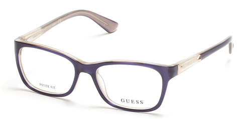 Guess - GU2561 50mm Shiny Blue Eyeglasses / Demo Lenses