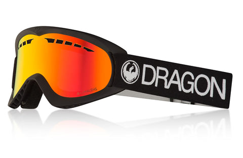 Dragon - DX Black Snow Goggles / Lumalens Red Ion Lenses