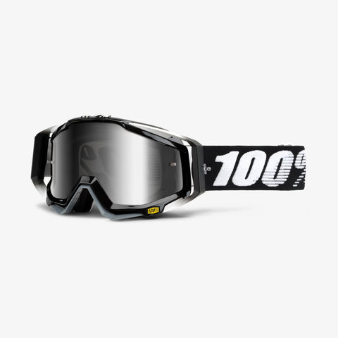 100 Percent - Racecraft Abyss MX Goggles / Silver Mirror + Clear Lenses
