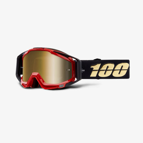 100 Percent - Racecraft Hot Rod MX Goggles / True Gold Mirror + Clear Lenses