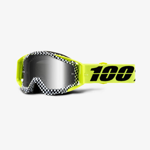 100 Percent - Racecraft Andre MX Goggles / Silver Mirror + Clear Lenses