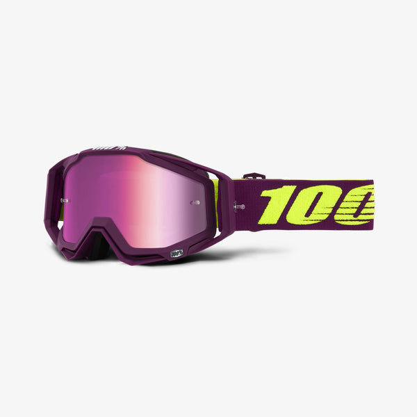 100 Percent - Racecraft Klepto MX Goggles / Pink Mirror + Clear Lenses