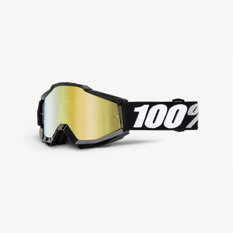 100 Percent - Accuri Tornado MX Goggles / Gold Mirror + Clear Lenses