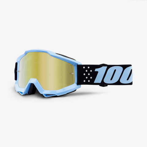 100 Percent - Accuri Taichi MX Goggles / Gold Mirror + Clear Lenses