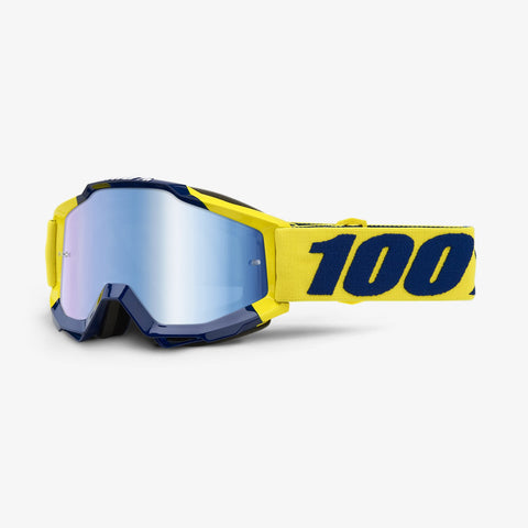100 Percent - Accuri Supply MX Goggles / Blue Mirror + Clear Lenses