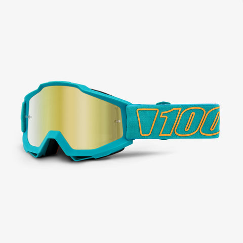 100 Percent - Accuri Galak MX Goggles / Gold Mirror + Clear Lenses