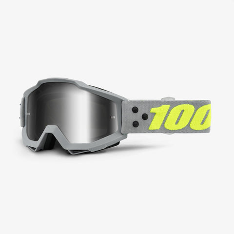 100 Percent - Accuri Berlin MX Goggles / Silver Mirror + Clear Lenses