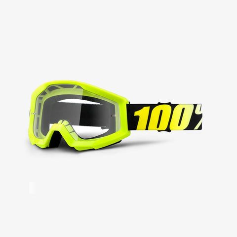 100 Percent - Strata Neon Yellow MX Goggles / Clear Lenses