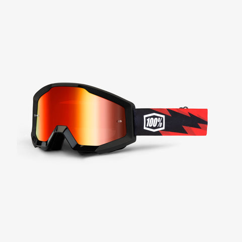 100 Percent - Strata Slash MX Goggles / Red Mirror Lenses