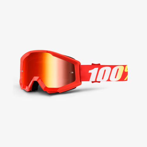 100 Percent - Strata Furnace MX Goggles / Red Mirror Lenses