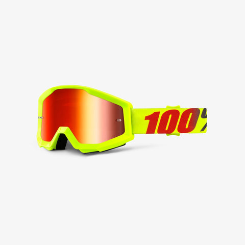 100 Percent - Strata Mercury MX Goggles / Red Mirror Lenses