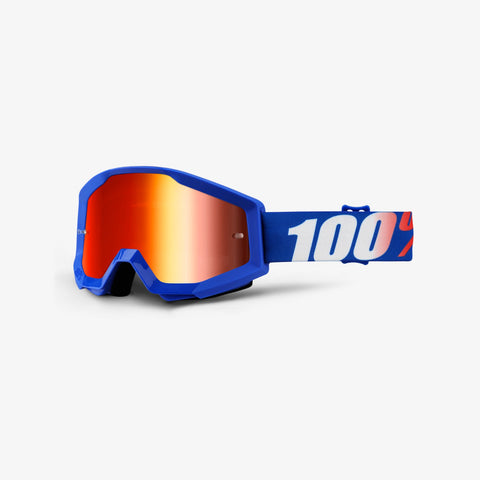 100 Percent - Strata  Nation MX Goggles / Red Mirror Lenses