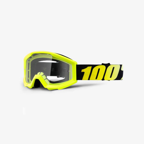 100 Percent - Strata JR Neon Yellow MX Goggles / Clear Lenses