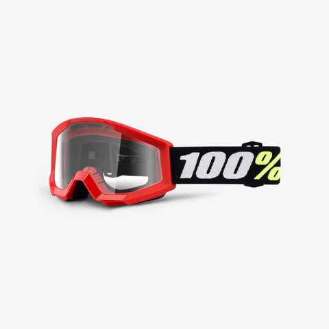 100 Percent - Strata Mini Red  MX Goggles / Clear  Lenses