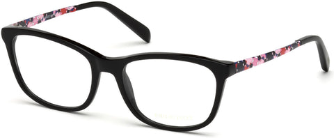 Emilio Pucci - EP5068 Shiny Black Eyeglasses / Demo Lenses