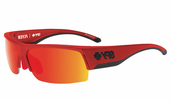 Spy - Flyer Red Flash Sunglasses, Happy Gray Green W/ Red Spectra + Happy Rose + Clear Lenses