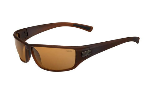 Bolle - Python Matte Transparent Brown Sunglasses / HD Polarized Brown Lenses