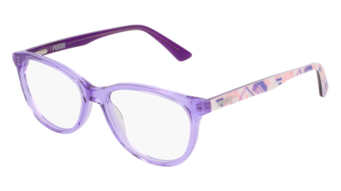 Puma - PJ0021O Junior Violet + Multi Color Eyeglasses / Demo Lenses