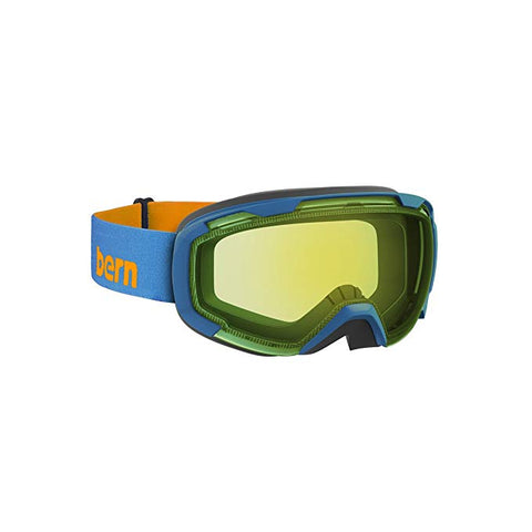 Bern - Sawyer Blue / Orange Goggles, Yellow / Blue Light Mirror Lenses